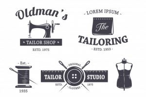 Tailoring logo collection Free Vector