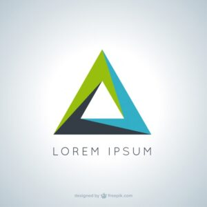 Triangular logo Free Vector