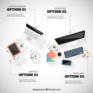 Workflow infographic Free Vector