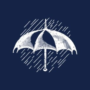 Classic umbrella logo illustration Free Vector