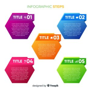 Colorful infographic steps collection Free Vector