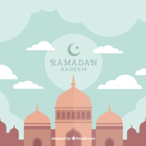 Beautiful ramadan background Free Vector