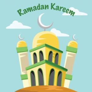 Ramadan background design Free Vector