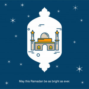 Ramadan mosque background Free Vector