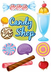 Candy shop Free Vector