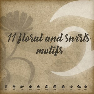 11 Floral and Swirls Brushes