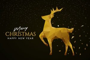 golden geometrical christmas reindeer