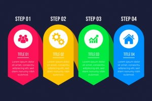 infographic steps flat design