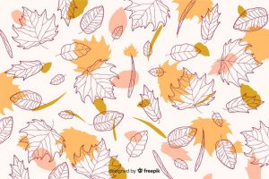 Autumn background in hand drawn style Free Vector