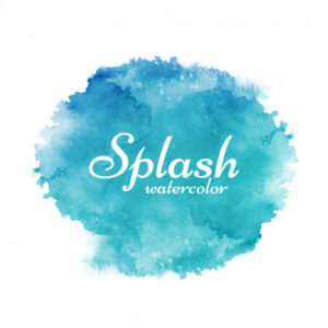 Colorful watercolor splash decorative background Free Vector