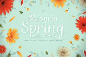 Spring background in colorful paper style Free Vector