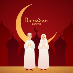 Flat ramadan background concept Free Vector