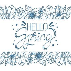 Hello spring artistic lettering theme Free Vector