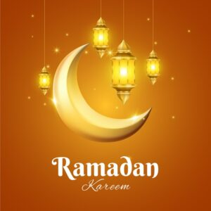 Realistic ramadan concept background Free Vector