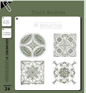 Brush Pack Geometric 01