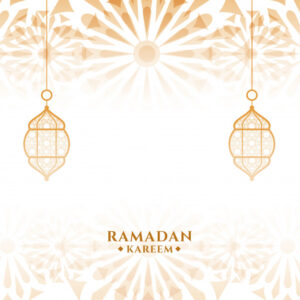 Attractive ramadan kareem islamic festival card Free Vector