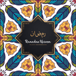 Beautiful ramadan kareem seamless pattern mandala background Free Vector