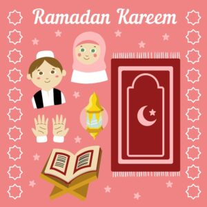 Hand drawn design ramadan Free Vector