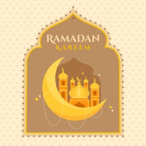 Ramadan kareem background flat design Free Vector