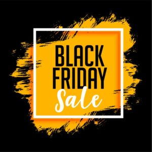 Black friday sale background with paint splatter Free Vector