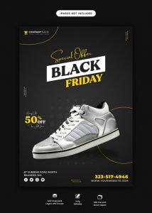 Special offer black friday flyer template Free Psd