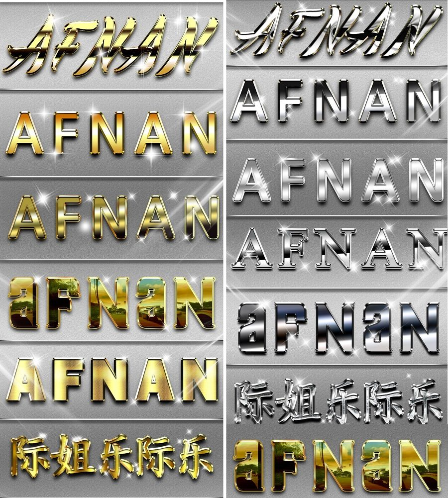 gold silver metal styles photoshop free download