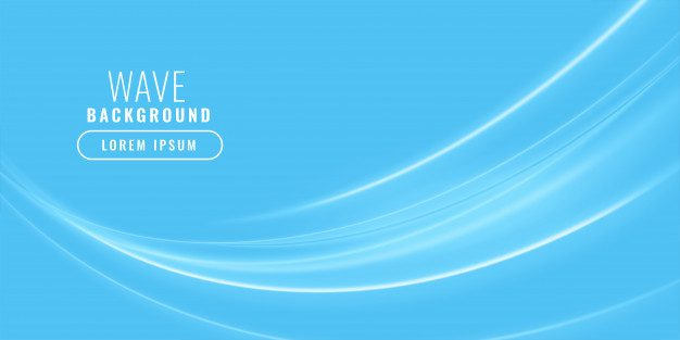 Blue wavy shiny business background Free Vector