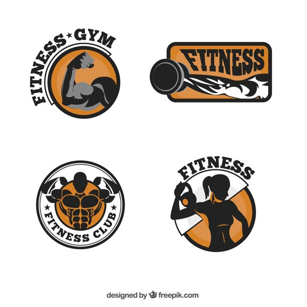 Fitness logo collection Free Vector
