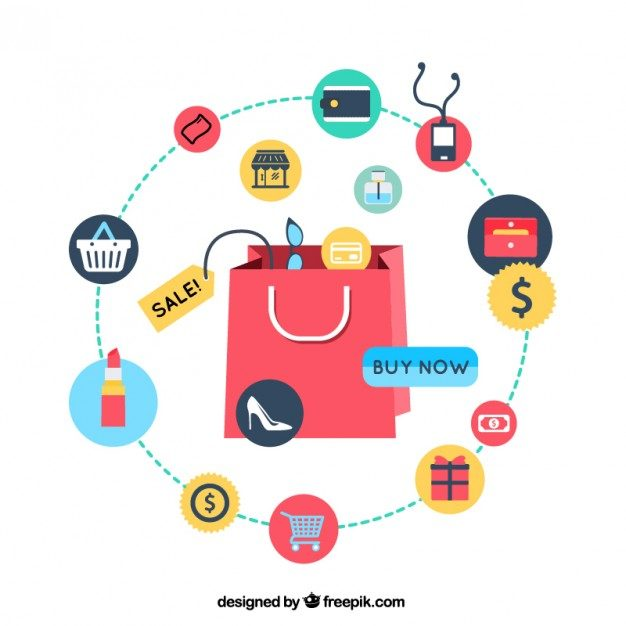 Shopping infographic Free Vector